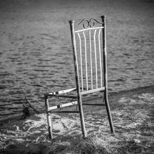 chair-on-White-river-shore